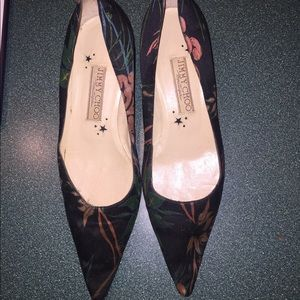 Jimmy choo shoe silk kitten heel pump 6 1/2
